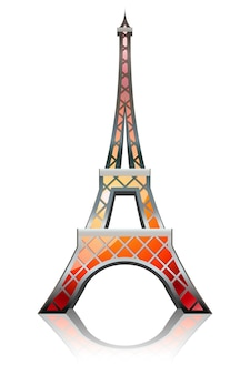 Eiffel tower designed in a glossy style