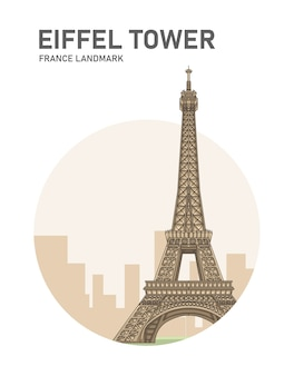 Eiffel tower france landmark poster
