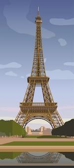 Эйфелева башня в париже символ парижа вектор