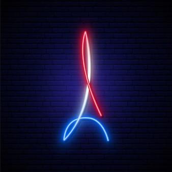 Eiffel tower neon sign