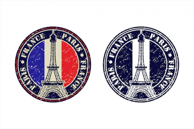 Eiffel tower paris france   design logo