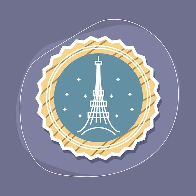 Eiffel tower in seal