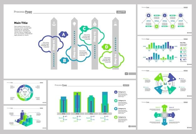 Set otto modelli di diapositive di analisi