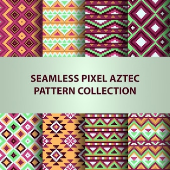Eight aztec patterns, collection