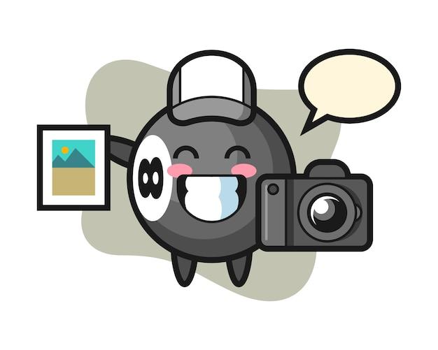 写真家としての8ボールビリヤード漫画