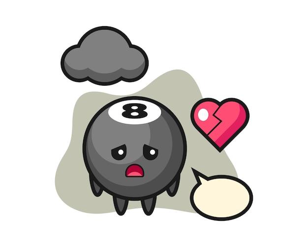 Восемь шаров бильярдный мультфильм разбитое сердце