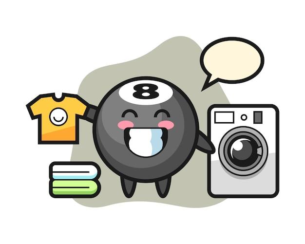 Восемь шаров бильярдный мультфильм со стиральной машиной