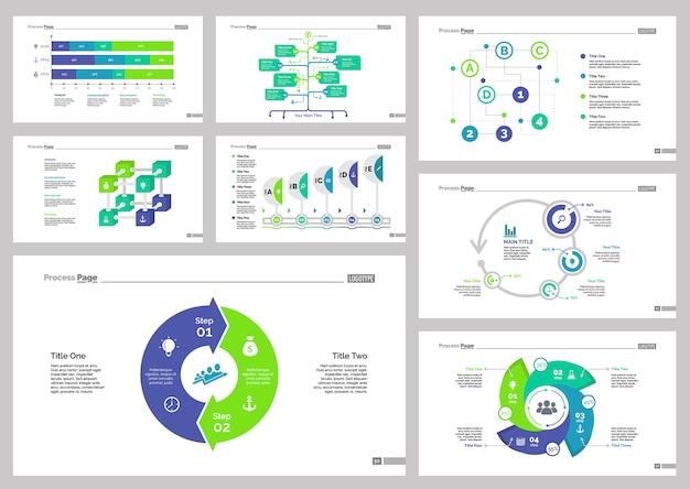 8つの金融スライドテンプレートセット