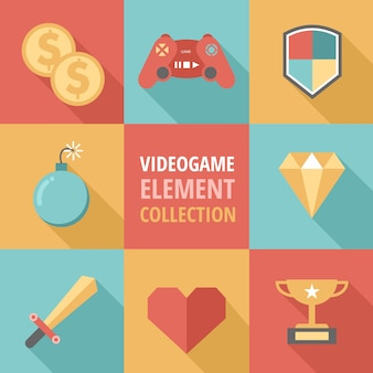 Eight flat elements for video games