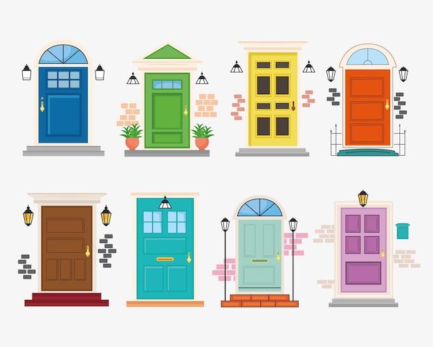 8つの正面玄関