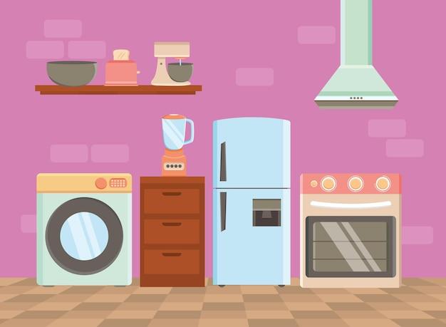 Eight home appliances