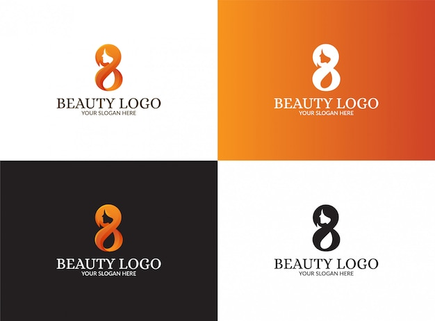 Eight logo set
