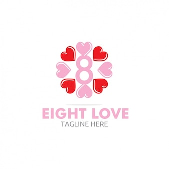 心で8愛のロゴ
