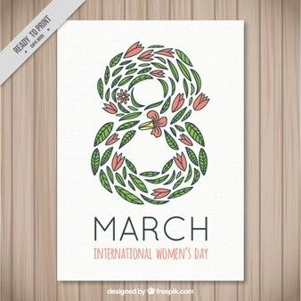 葉の女性の日のポスターで構成されたエイト