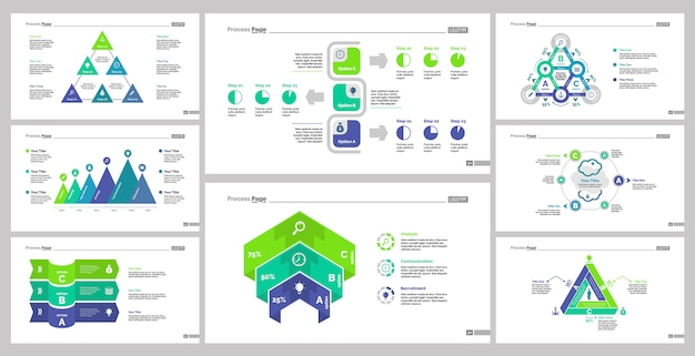 8 마케팅 슬라이드 템플릿 세트