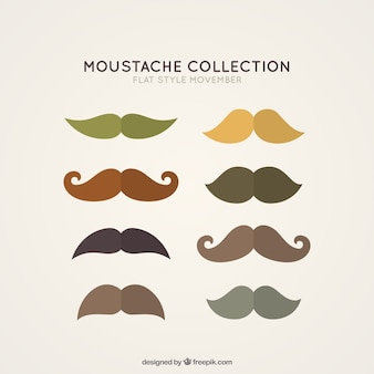 Eight mustaches