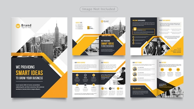 8ページの企業パンフレット
