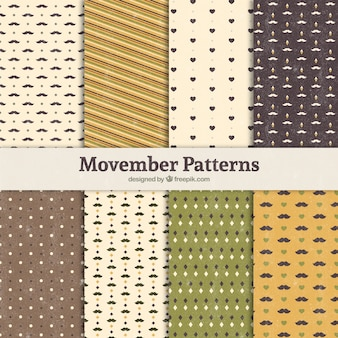 Eight patterns for movember