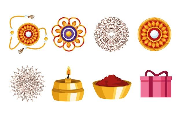 8개의 raksha bandhan 아이콘