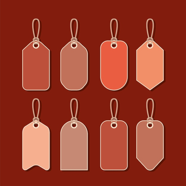 Eight sale labels
