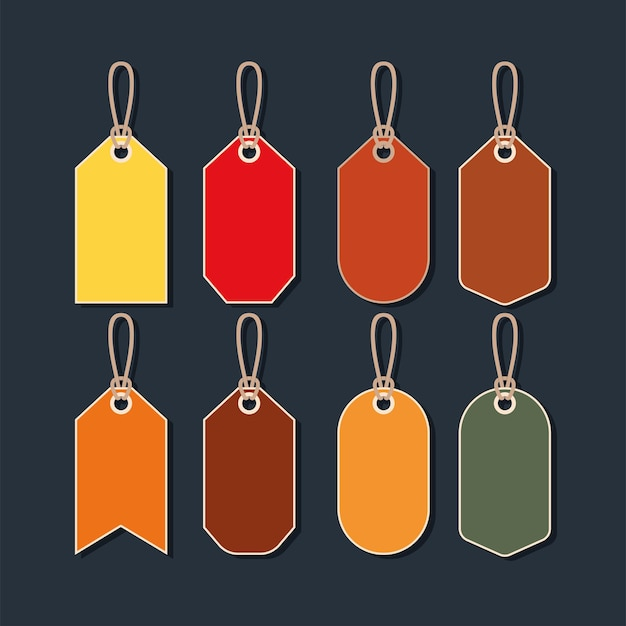 Eight sale tags