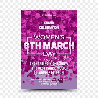 Eighth march women's day celebration flyer