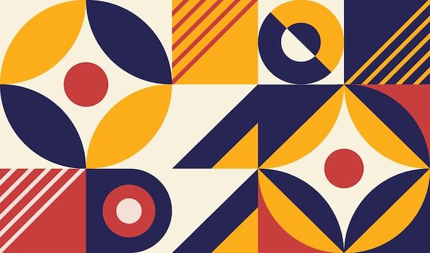 80年代の幾何学的な壁画の壁紙
