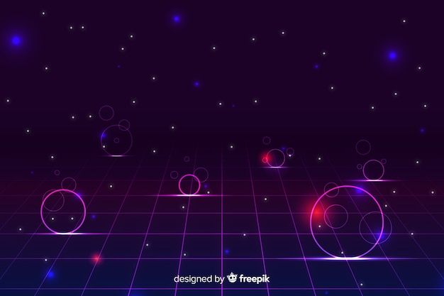 Eighties geometric shapes decorative background