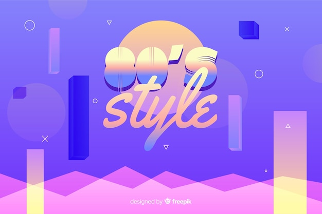 Eighties style geometric background
