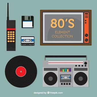 Eighties technological objects set