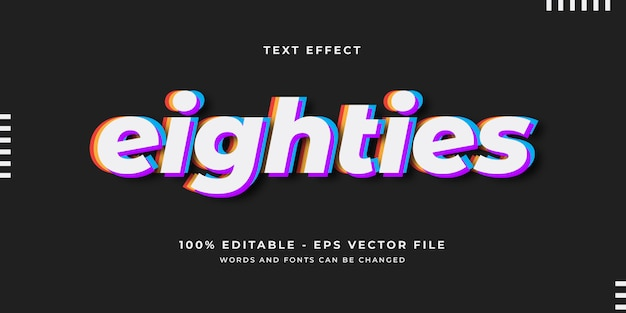 Eighties text effect template