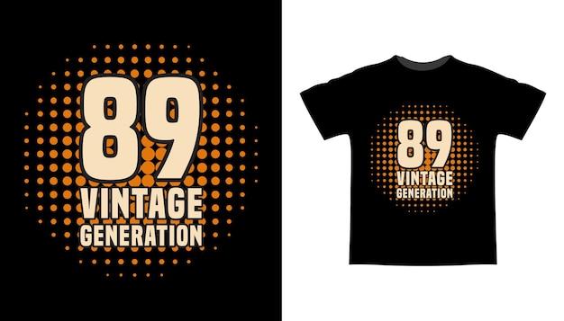 Восемьдесят девять винтажных типографских футболок