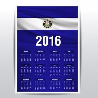 El salvador il calendario del 2016