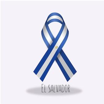 El salvador flag ribbon design