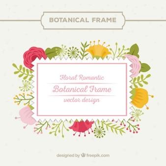 Elaborato cornice romantica floreale