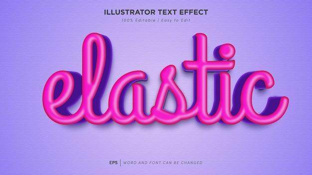Редактируемый шрифт с эластичным текстовым эффектом