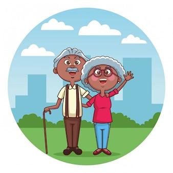 Elder couple cane city