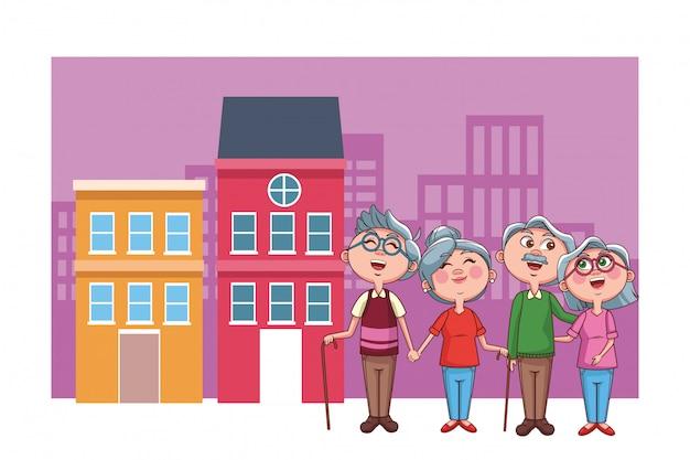 Elder couples retirement city