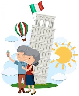 Пожилые пары путешествие в италию