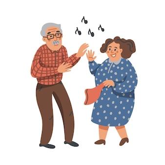 Пожилая танцевальная пара