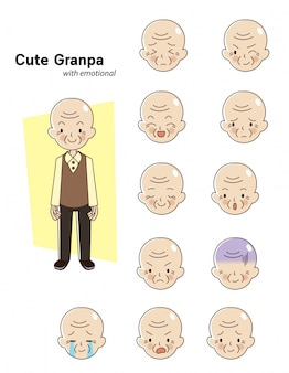 Elderly man character