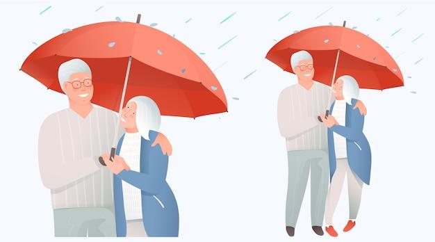 老夫婦のサポートと保護