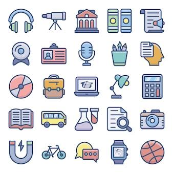 Elearning icons set