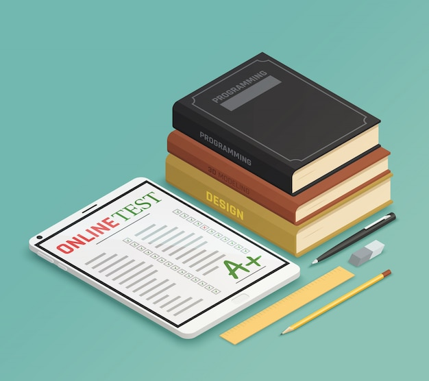 Elearning isometric design concept
