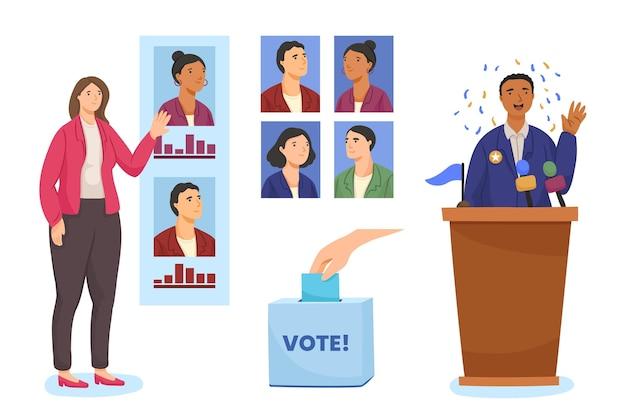 Election campaign scenes