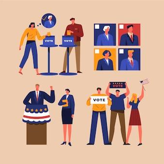 Scene della campagna elettorale