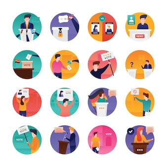 Election day flat vectors pack