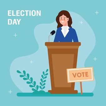 選挙日のイラスト