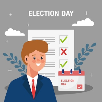 Election day illustration