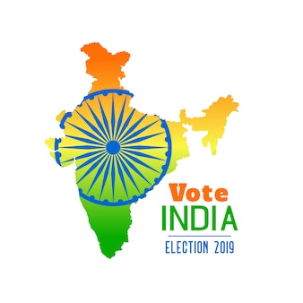 Election of india 2019 banner design Free Vector
